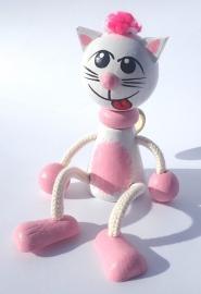 Kočka kočička hračka pérák pružina
