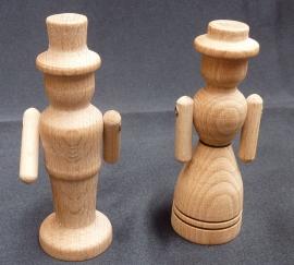 Dřevěné figurky maminka a tatínek