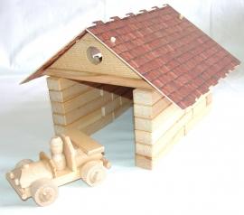 Dřevěná garáž stavebnice