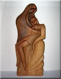 Pieta dřevořezba