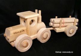 Dřevěný traktor pro díě