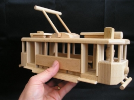 Tramvaj Ringhoffer - dřevěné hračky