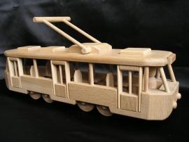 Tramvaj hračka dřevěná pro děti