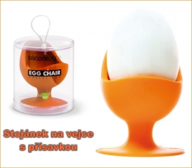 Stojánek na vajíčko ze silikonu, zábavný a užitečný doplněk
