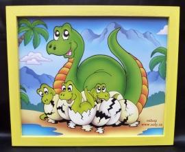 kreslene obrazky zviratek v ramu brontosaurus pravek