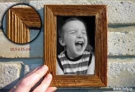 Dřevěný fotorámeček 10x15 cm NATUR