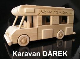 Karavan jako dárek, model ze dřeva