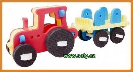 traktor hračka za pěny