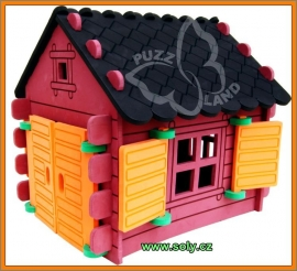 Srub domeček skládačka pro děti