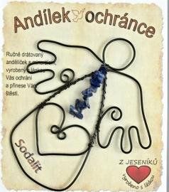 Drátěný anděl se Sodalitem