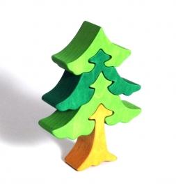 Dřevěné dětské puzzle strom smrk