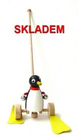 tučnák hračka dřevěná na tyči