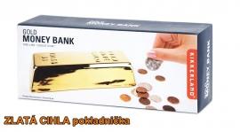 Pokladnička kasička zlaté cihly