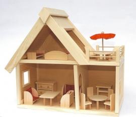 Dřevěný domeček pro holčičky na hraní
