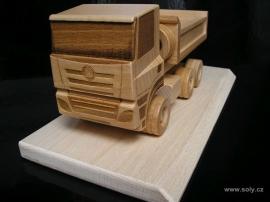 Tatra dřevěný nákladní vůz s logem, dárek, model