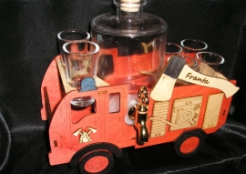Dárková láhev hasič, požárník, fireman