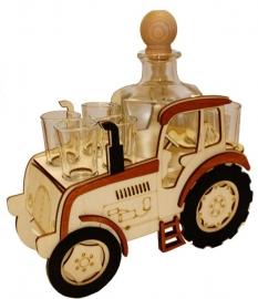 Traktor | Dárková láhev sklo