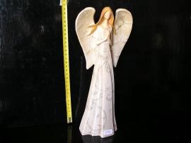 Modlící anděl, velká křídla, soška dekorace