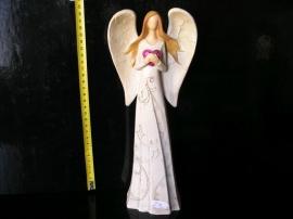 Anděl se srdcem, křídly, soška dekorace