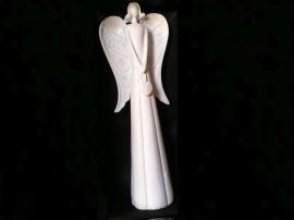 40 cm vysoký bílý anděl, bytové dekorace