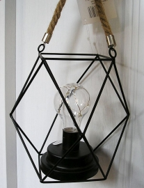 Elektrická lucerna, dekorační lampa kovová