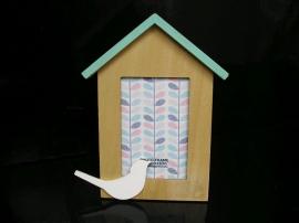 Fotorámeček holub, 13x18 cm, fotorámečky dřevěné