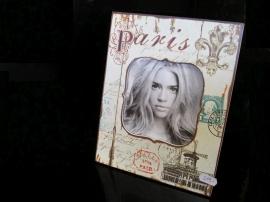Fotorám Paříž, dekorační dřevěný fotorámeček
