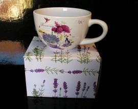 Hrnek na čaj kávu, hrníček kafé provance, dárek