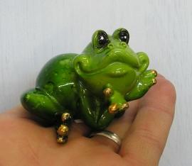 Žába | zelená žabka dekorace figurka keramika