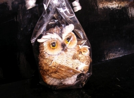 Sova, sovička, výr figurka, keramika, dekorace dárek