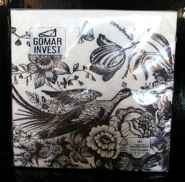 Papírové ubrousky dekorační s potiskem, vzorem, květina