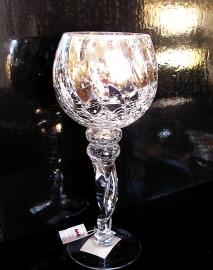 Stříbný skleněný svícen z praskaného skla