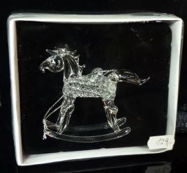Koník, imitace skla, kůň závěsná dekorace