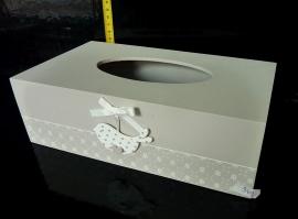 Dřevěná krabička, dekorační škatulka na papírové kapesníky