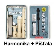 Hudební nástroje pro děti dětská píšťala a foukací harmonika