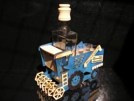 Dárek kombaj | pro řidiče kombajnu | láhev na alkohol