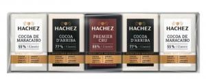 Mini Čokolády mléčná, hořká a extra hořká HACHEZ