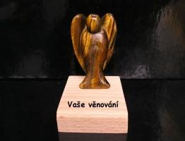Anděl tygří oko 7,5 cm,ochranný minerální kámen
