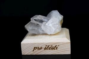 Křišťál drůza minerál kámen pro štěstí dárek