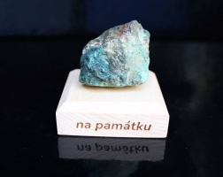 Malachit chrystochol surový minerál kámen