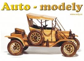 FORD T, dokonalý dřevěný model