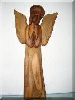 Soška, anděl se svatozáří II. v. 25 cm, dřevo