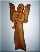 Dřevěné sošky, Anděl s trubkou I. , 24 cm