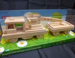 Drezína - vláčky, hračky ze dřeva s krabicí