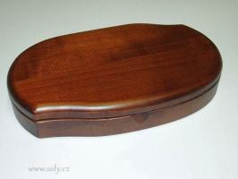 Šperkovnice z tmavého dřeva české výroby