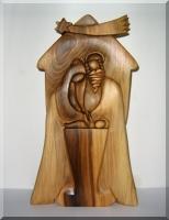 Betlém ze dřeva. Dřevěná plastika
