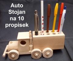 Auto stojan-držák na tužku - dřevěné hračky