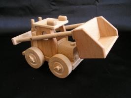 Nakladač písku, dřevěné hračky