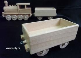 Nákladní vagón pro parní lokomotivu, hračky