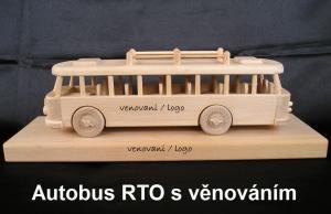 Autobus s podstavou, dárek s věnováním
